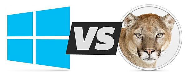 Windows 8 vs Mountain Lion OS X